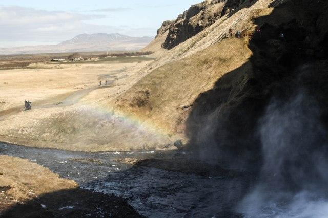 Seljalandfoss Waterfall, natire, Iceland, rainbow