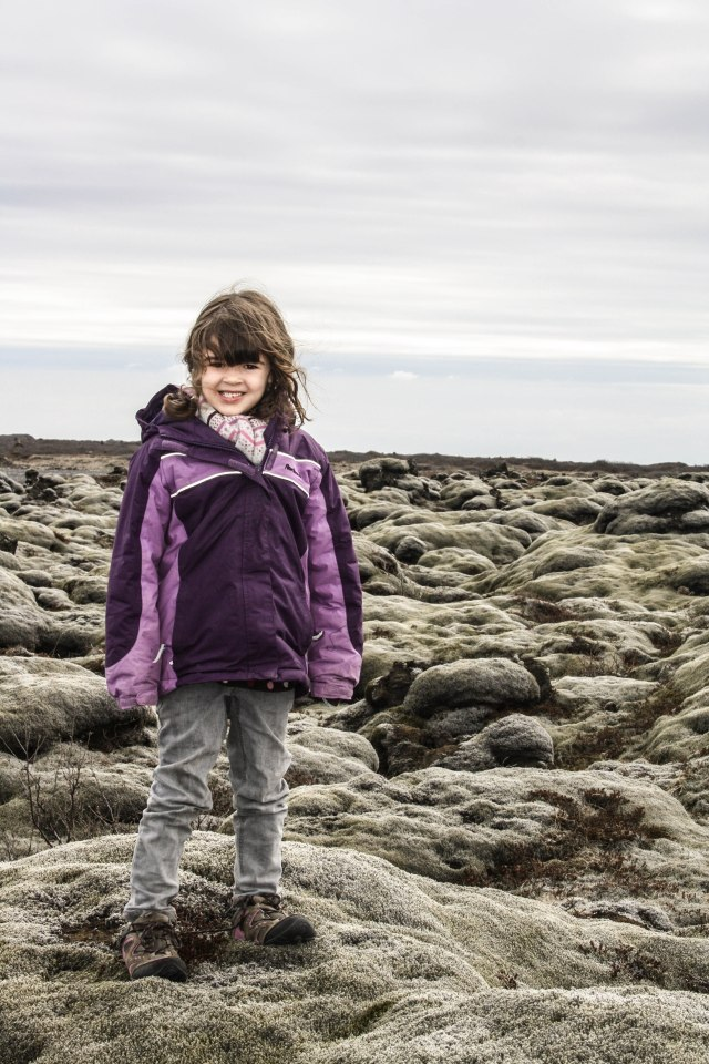 Eldrhaun, Iceland, kids, lava fields