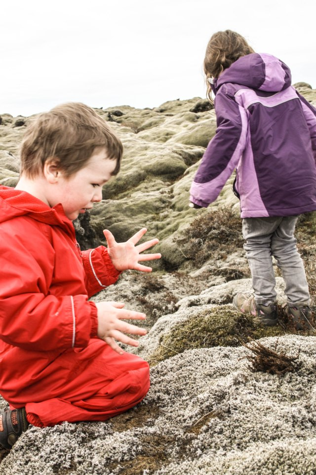 Eldrhaun, Iceland, lava fields, kids, nature