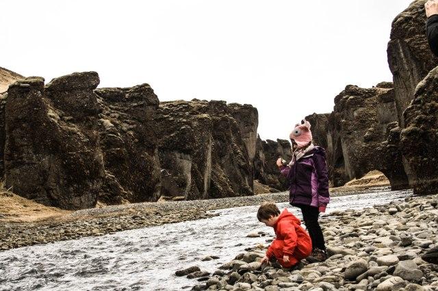 Fjaðrárgljúfur, Iceland, Canyon, Kids, Nature